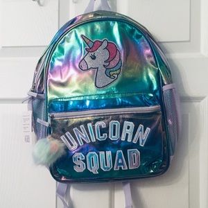 NEW w TAG- Children's Place unicorn bling backpack